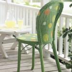 Как раскрасить плетеную мебель